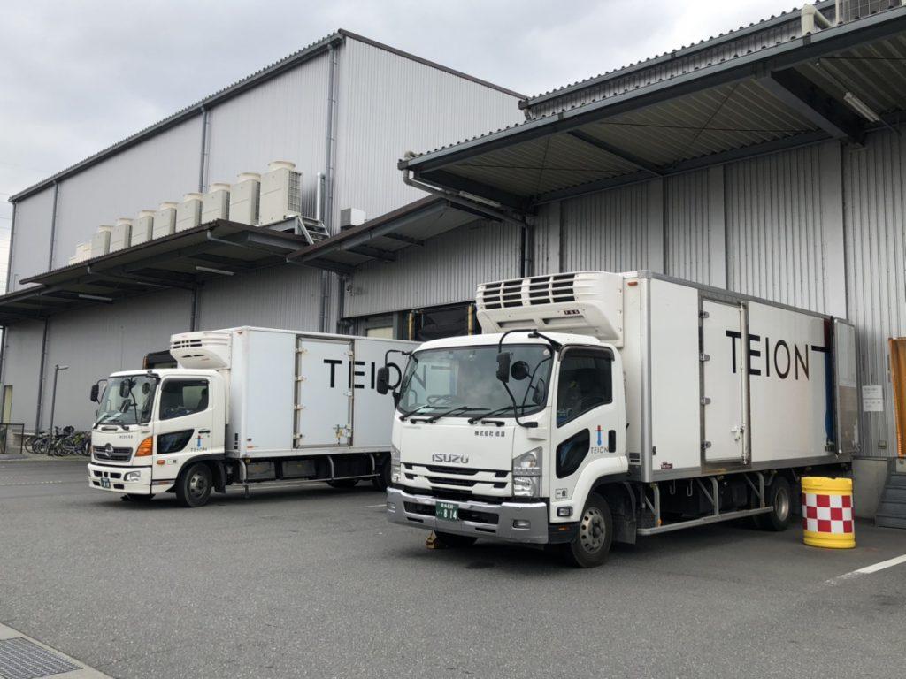-25℃までの温度管理をできるトラックを約30台保有しています。